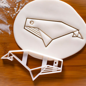 origami whale cookie cutter