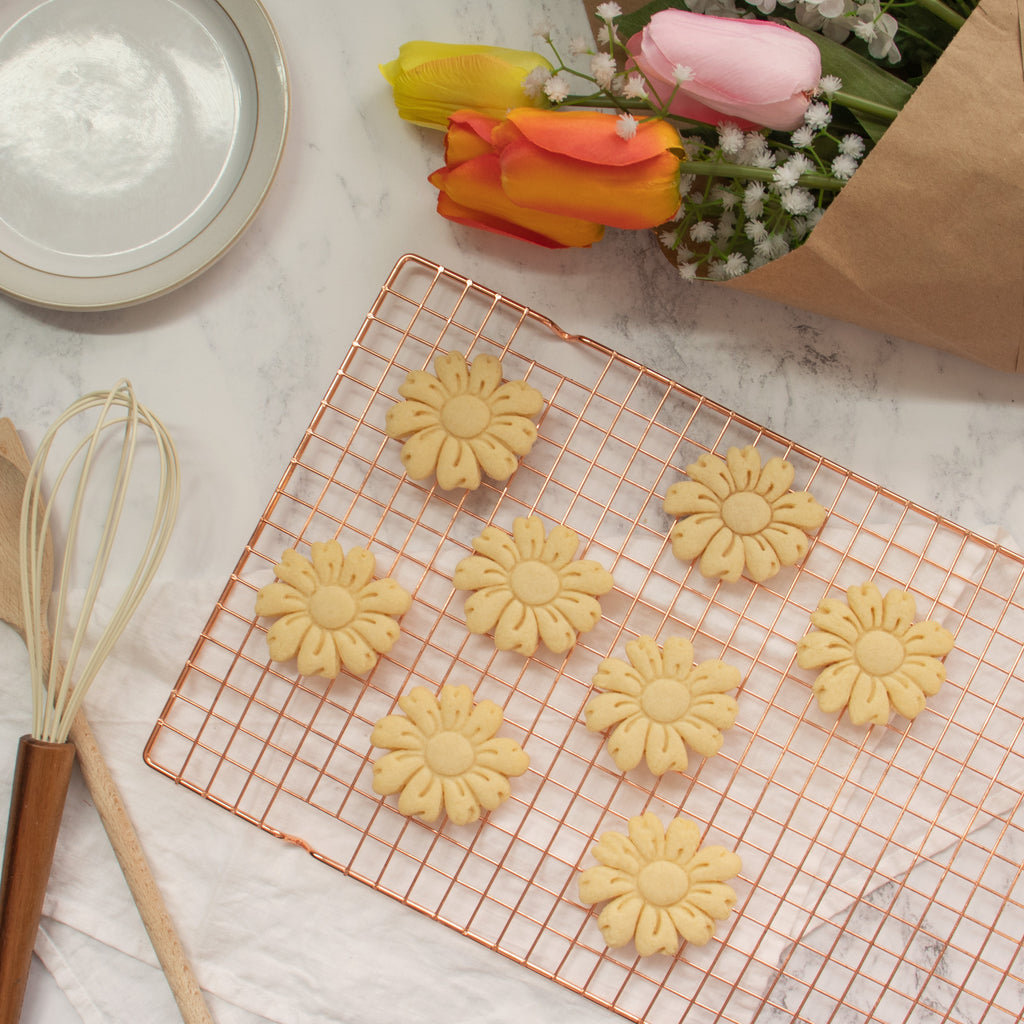 daisy flower cookies