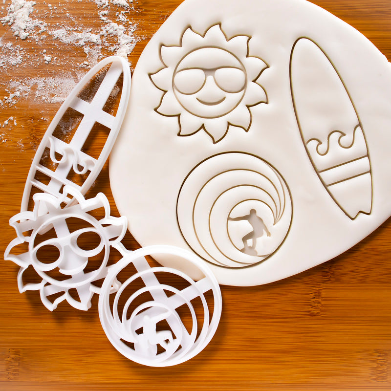 Surfer, Surfboard & Sunshine Cookie Cutters