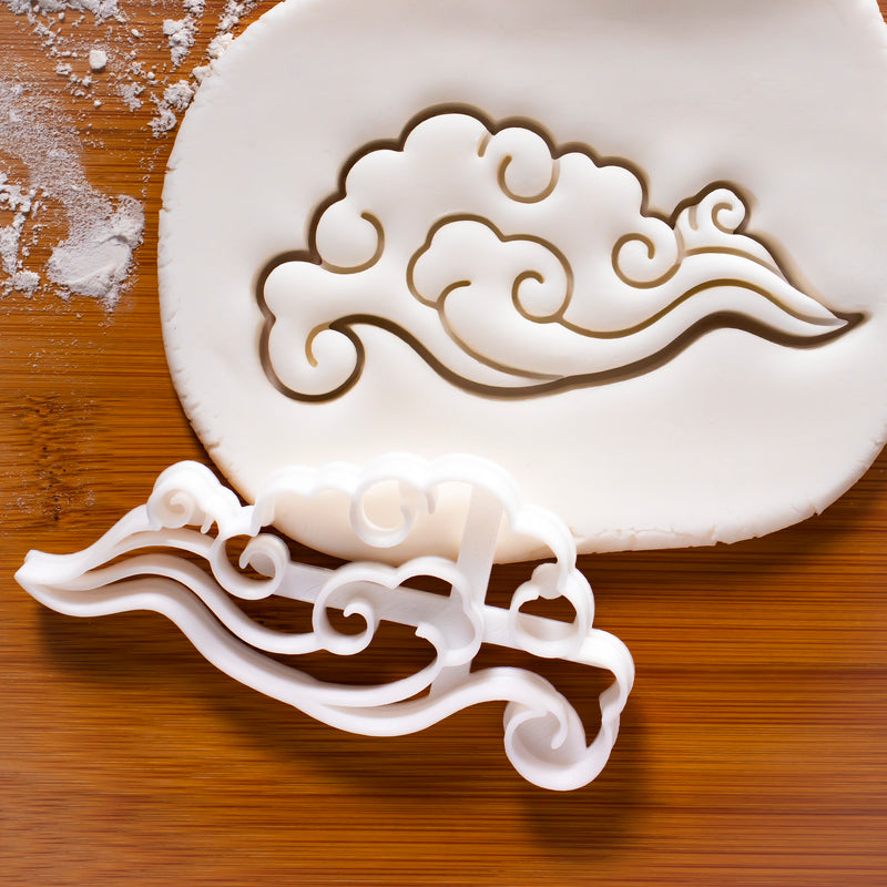 whimsical eastern cloud cookie cutter