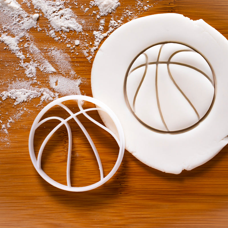 Basketball cookie cutter
