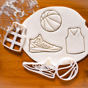 set of 3 basketball themed cookie cutters