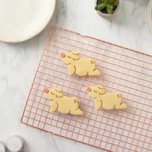 yoga pig upward facing cookies