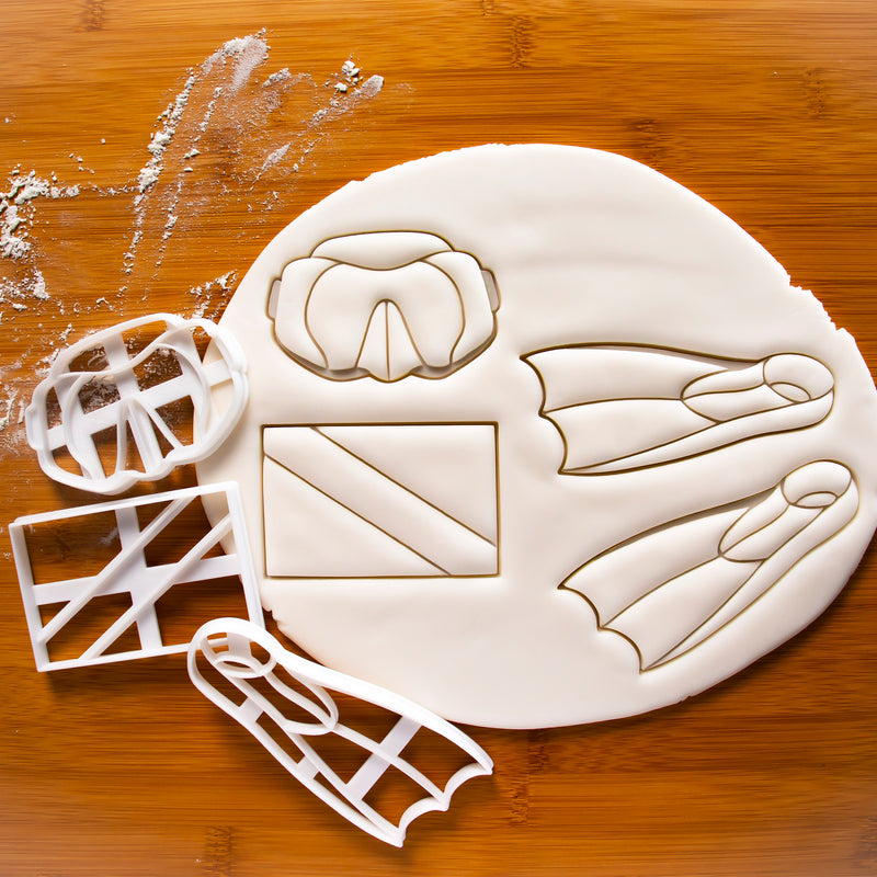 scuba diving flipper cookie cutter