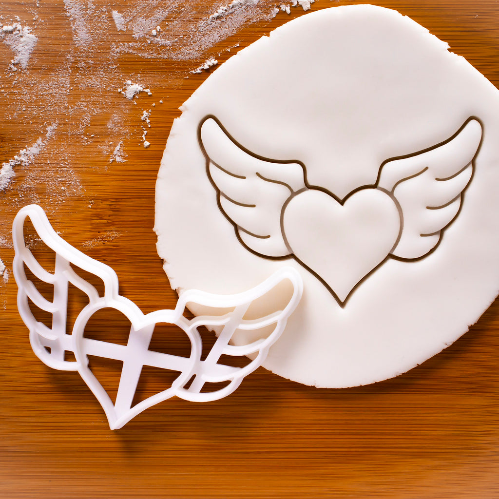 Heart with Angel Wings Cookie Cutter