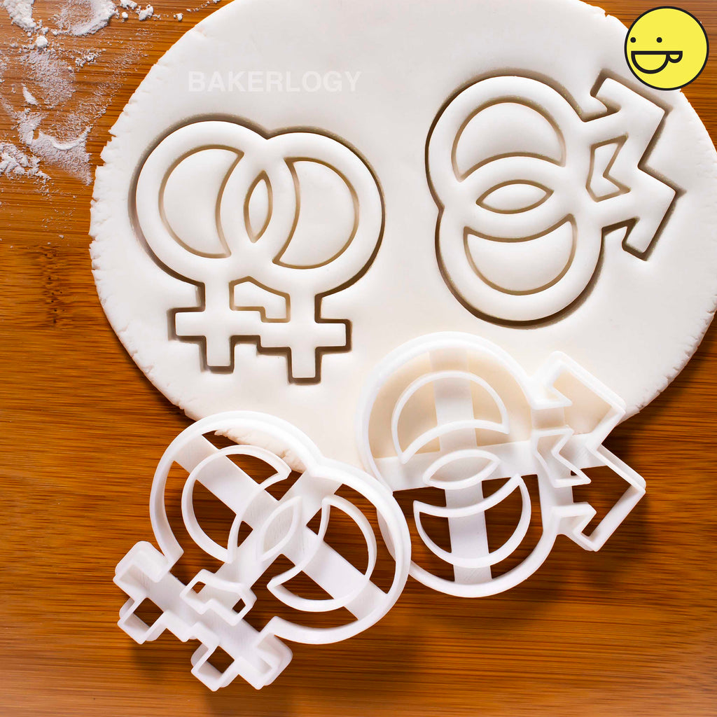 Lesbian & Gay Symbols Cookie Cutters