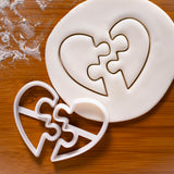 heart jigsaw cookie cutter