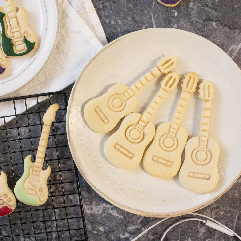 acoustic and electric guitar cookies