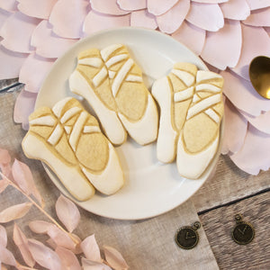 ballet shoes cookies