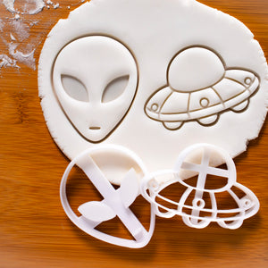 set of alien and ufo cookie cutters
