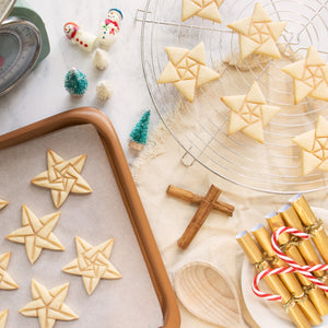 5 sided origami star christmas cookies