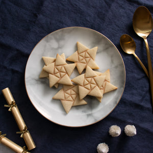 5 sided origami star style 3 christmas cookies