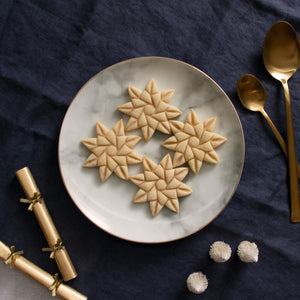 8 sided origami star christmas cookies