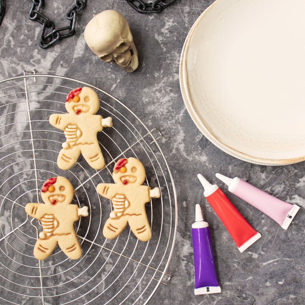 zombie gingerbread man cookies