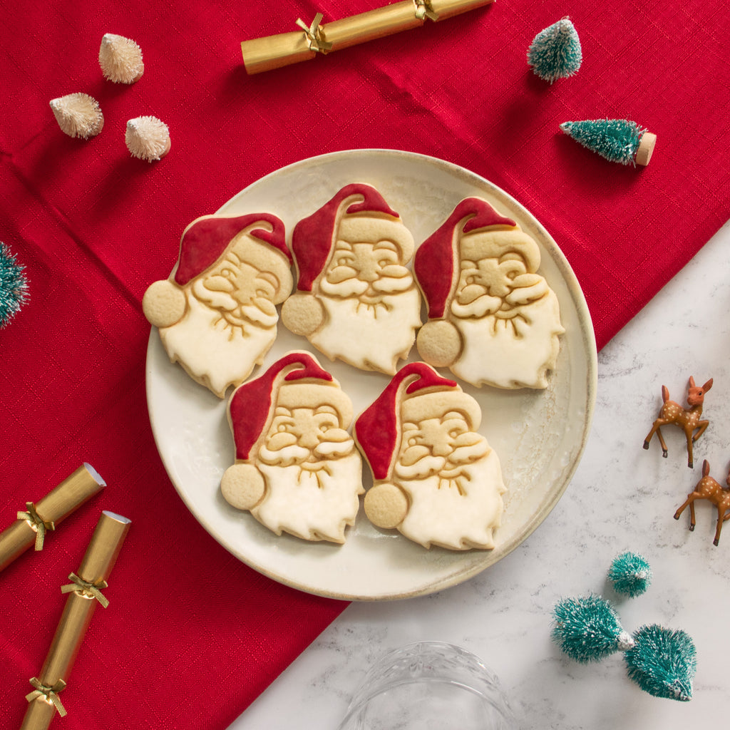 santa claus christmas cookies