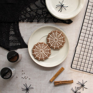 spider web chocolate cookies
