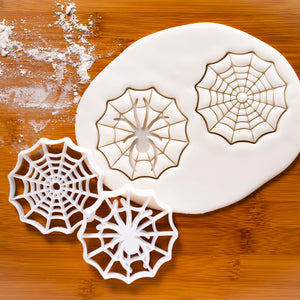 set of 2 spider cobweb cookie cutters