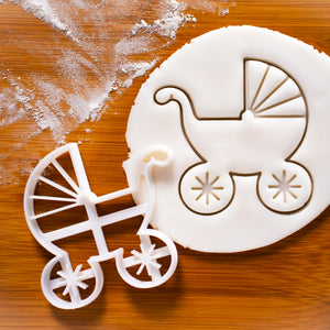 baby pram cookie cutter