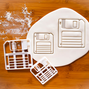 set of 2 floppy disk cookie cutters