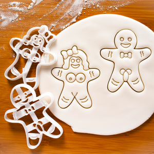 Mature Gingerbread Man & Woman Cookie Cutters