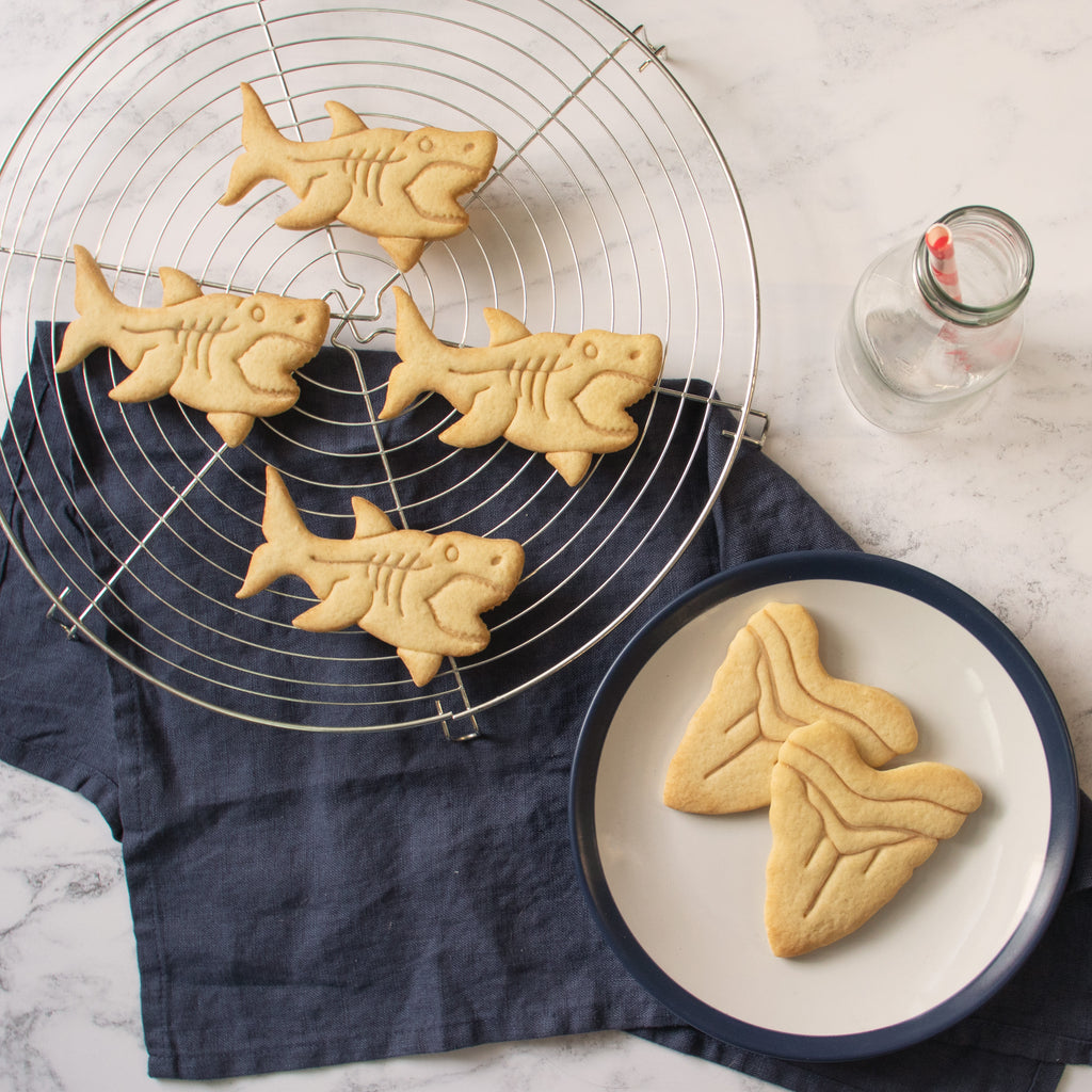 megalodon shark and tooth cookies
