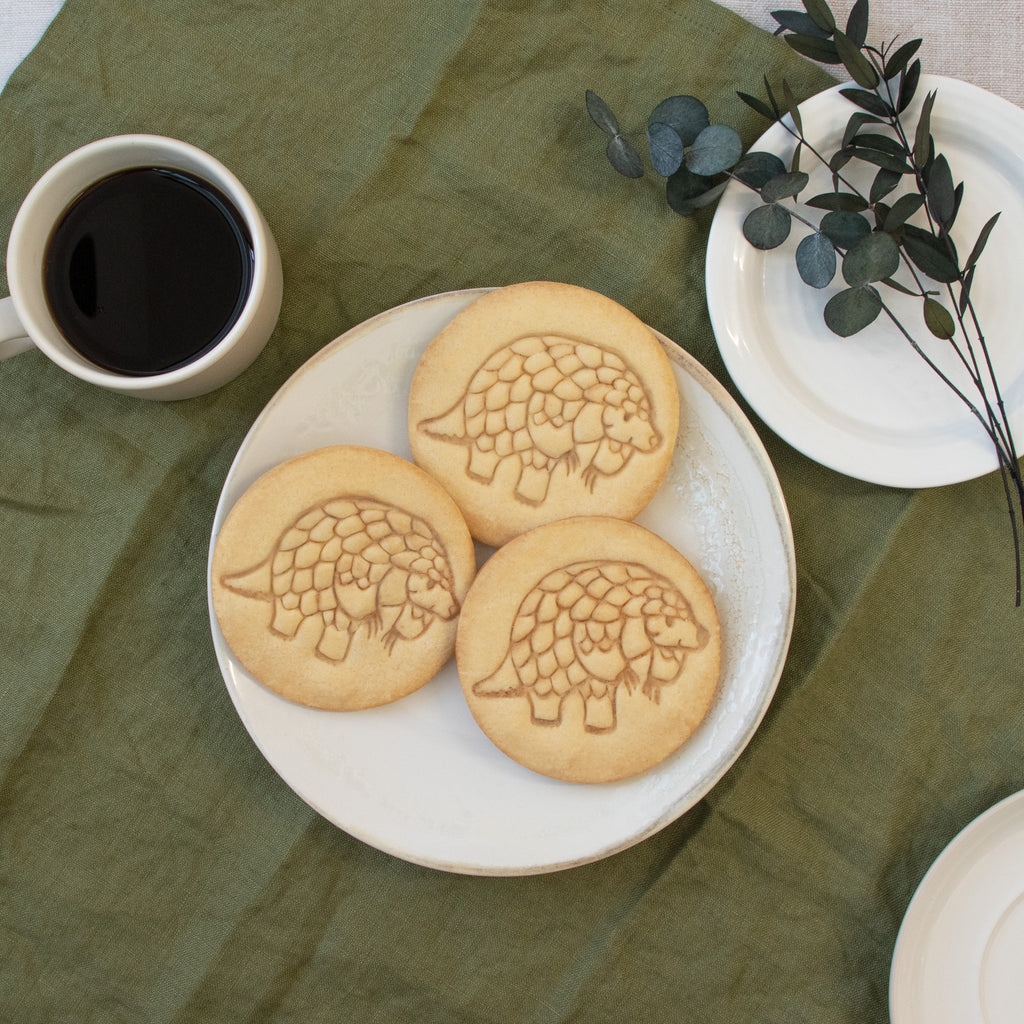 walking pangolin cookies