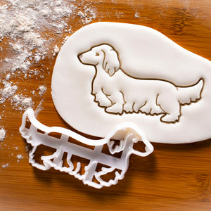 Long Haired Dachshund Body Cookie Cutter