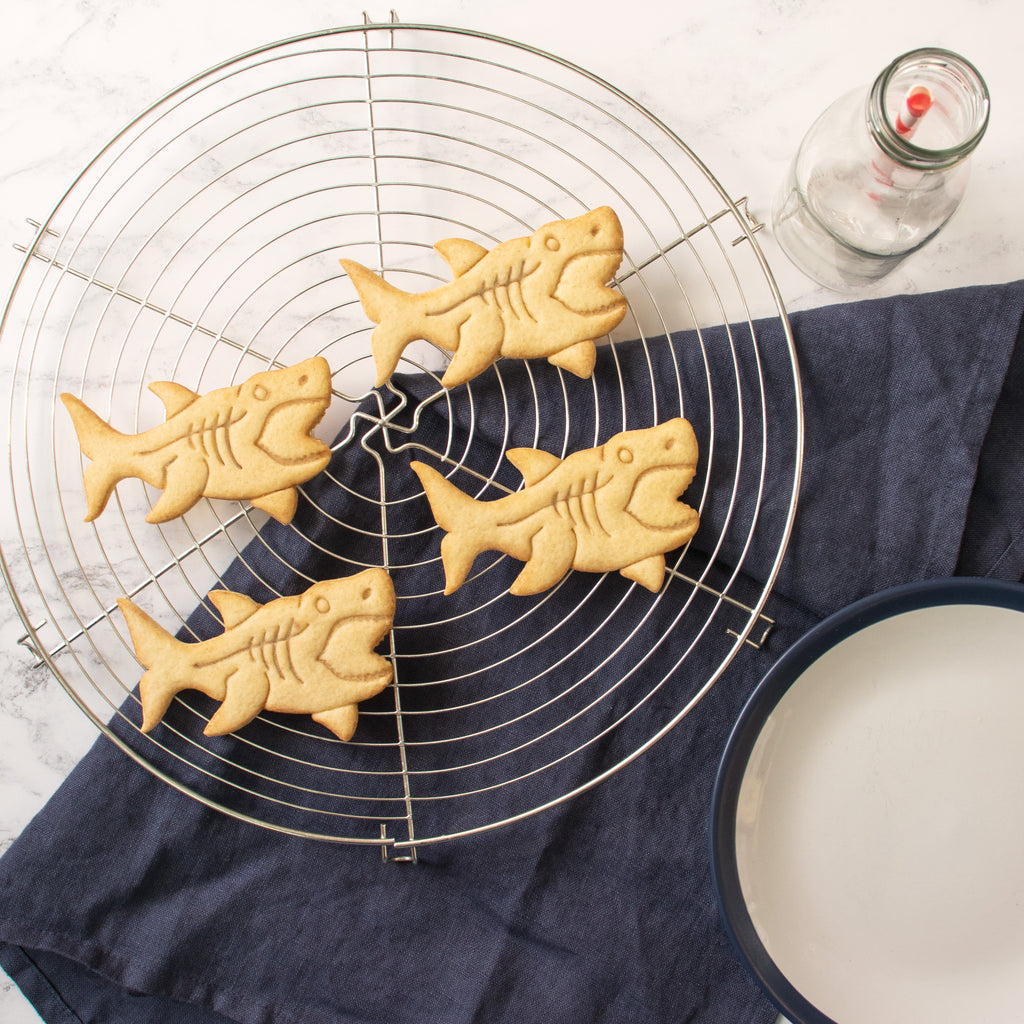megalodon shark cookie