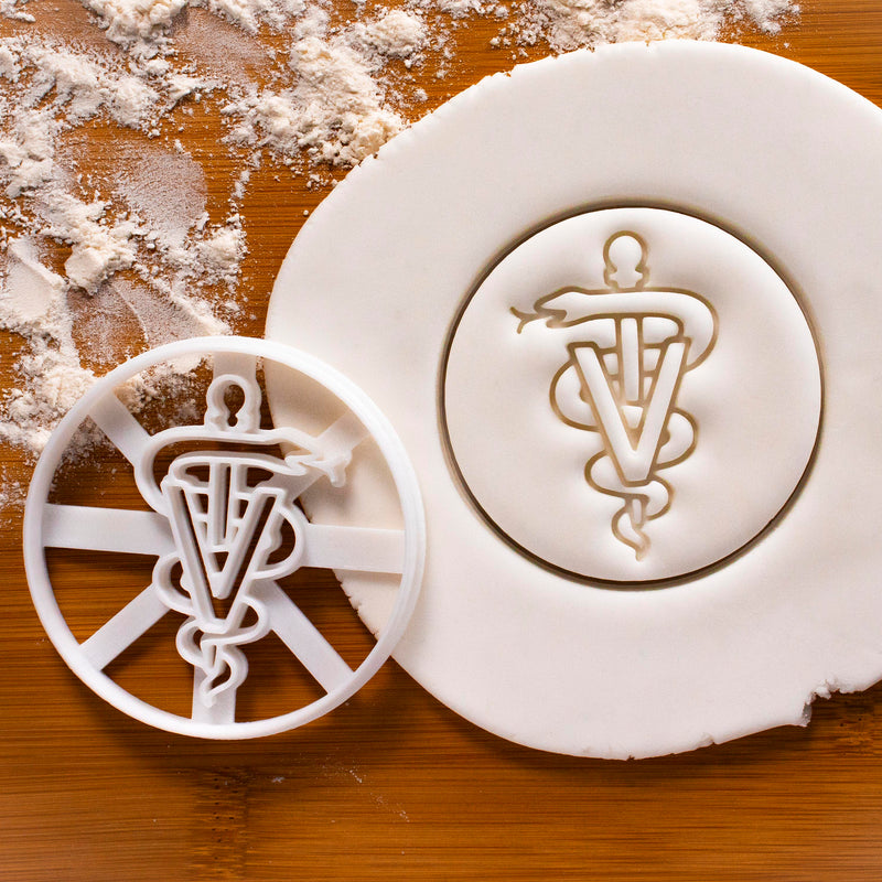 Veterinary Caduceus Cookie Cutter