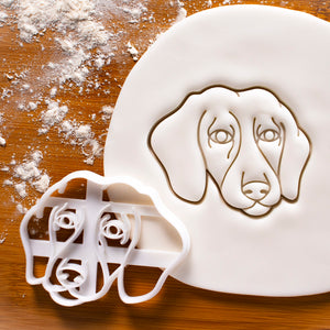 Short Haired Dachshund Face Cookie Cutter