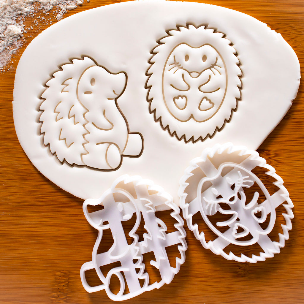 Set of 2 Hedgehog Side Cookie Cutters