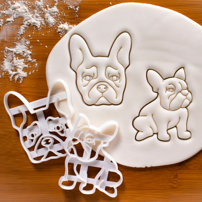 Set of 2 French Bulldog Cookie Cutters