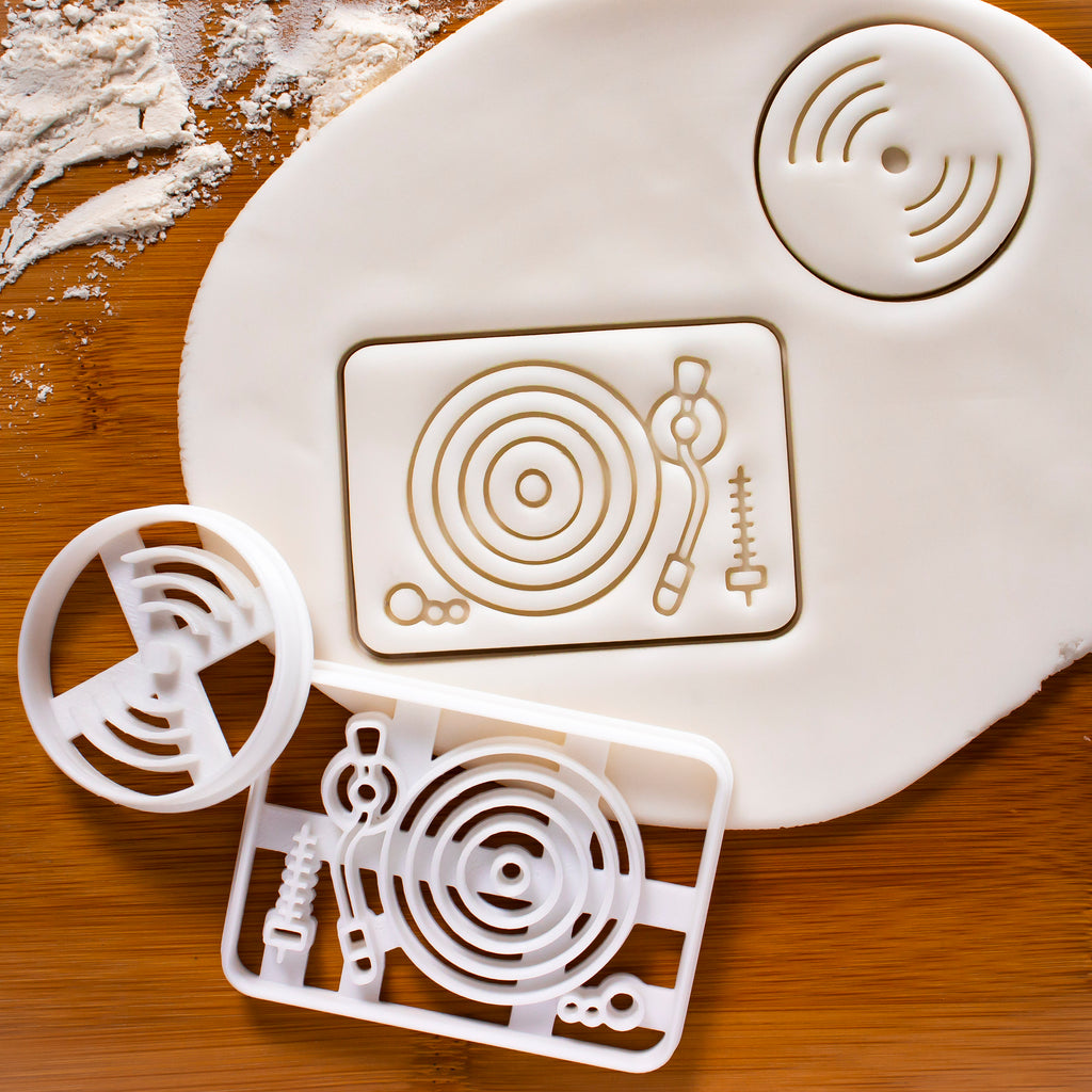 Vinyl Player & Vinyl Disc Cookie Cutters