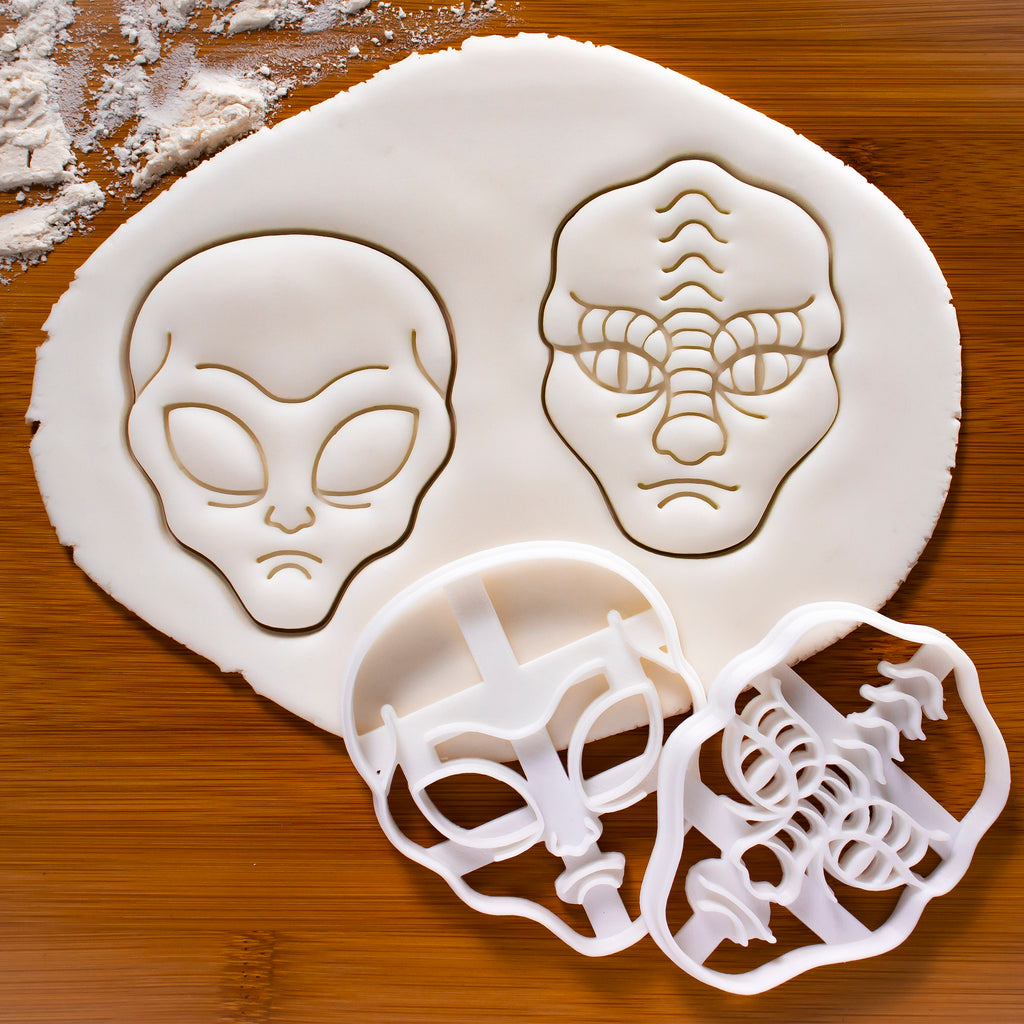 Grey Alien & Reptilian Alien Cookie Cutters