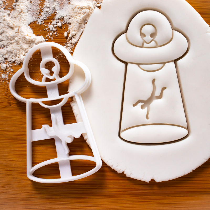 UFO Man Abduction Cookie Cutter