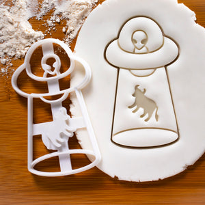 UFO Cow Abduction Cookie Cutter