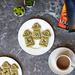 ufo abduct cow matcha halloween cookies
