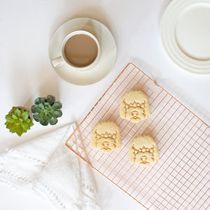 goldendoodle dog face portrait cookies