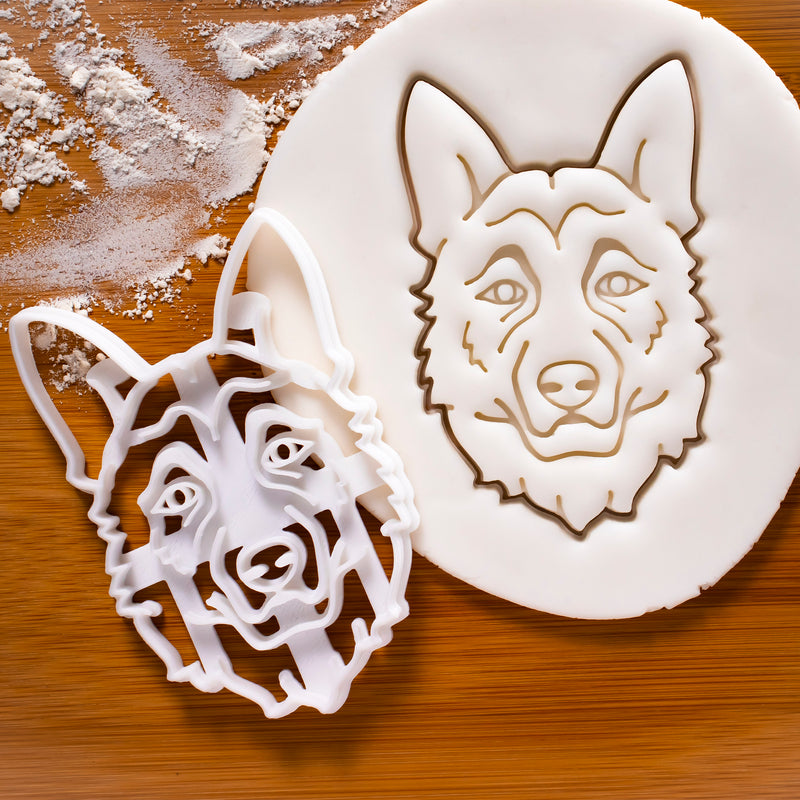 German Shepherd Face Cookie Cutter