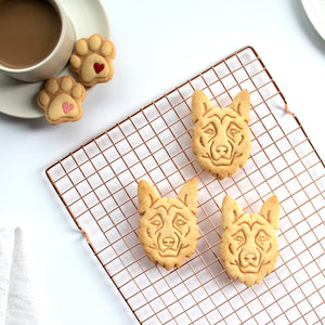 german shepherd dog face cookies