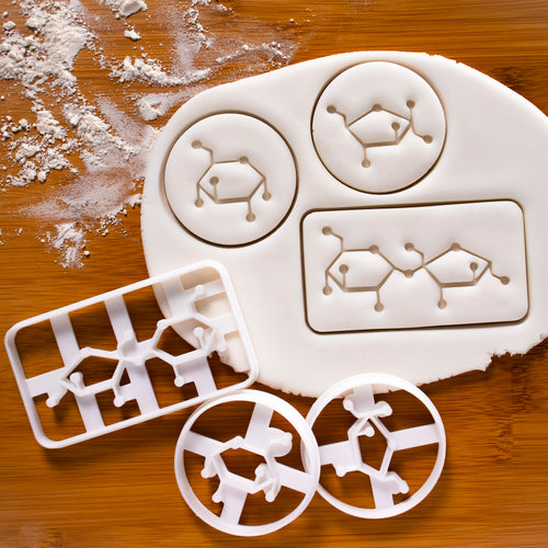 Set of 3 Sugar Molecule Cookie Cutters