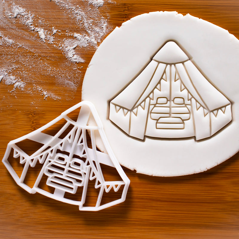 Glamping Tent Cookie Cutter