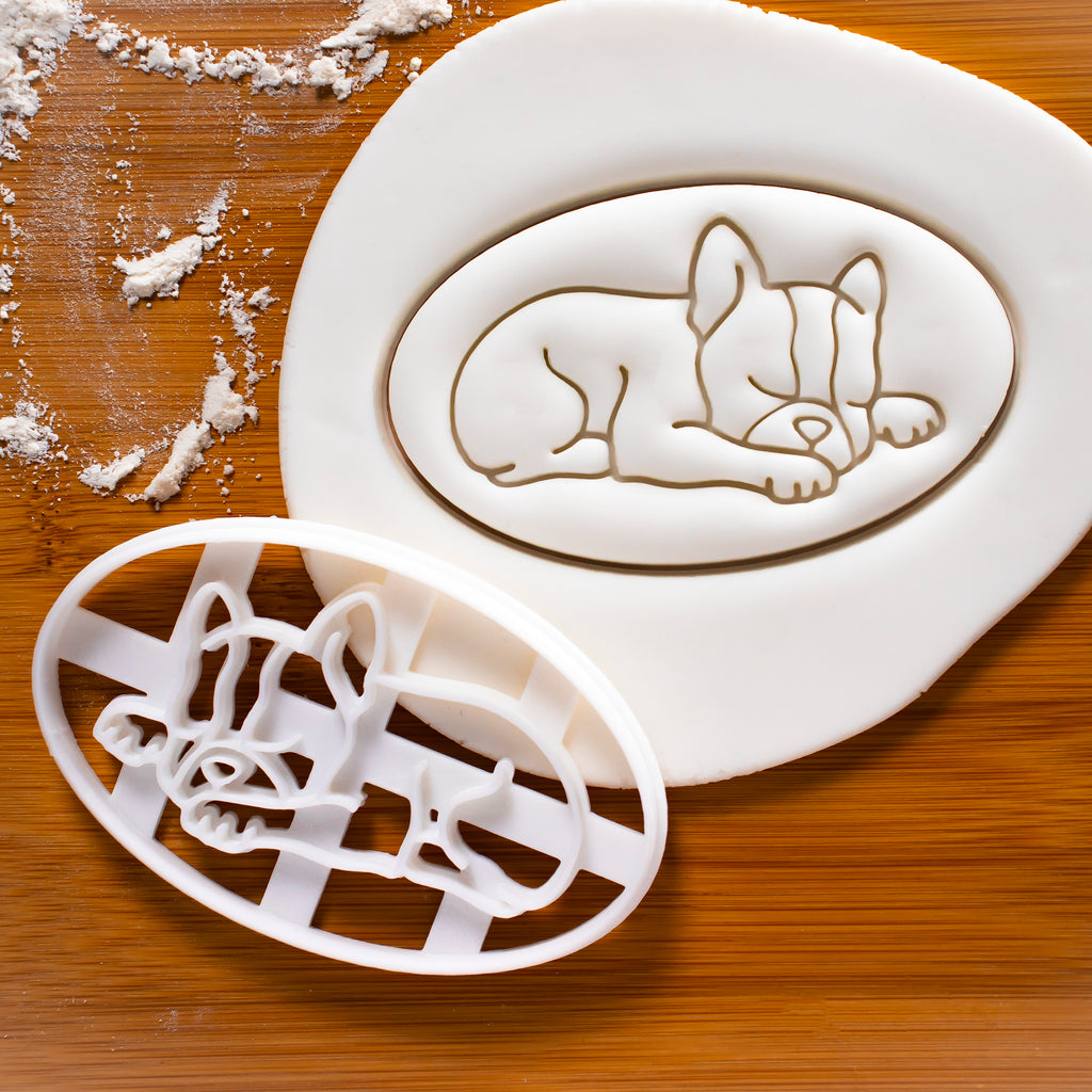 Boston Terrier Sleeping Cookie Cutter