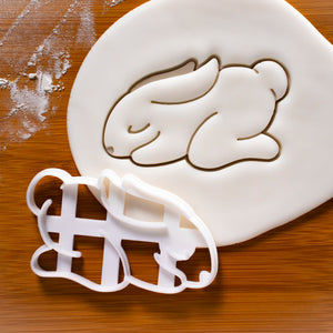 Yoga Bunny Child Pose Cookie Cutter