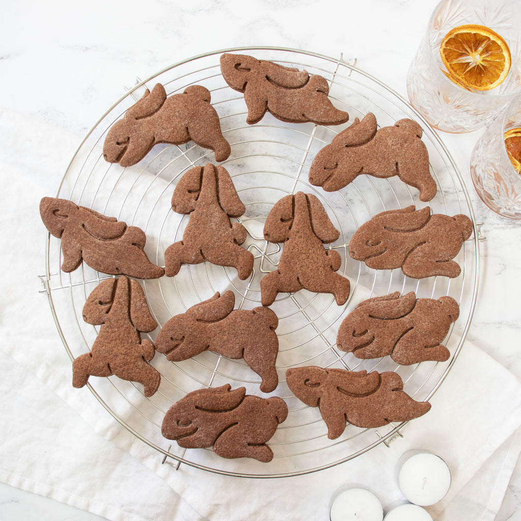 Set of 4 Yoga Bunny Cookies