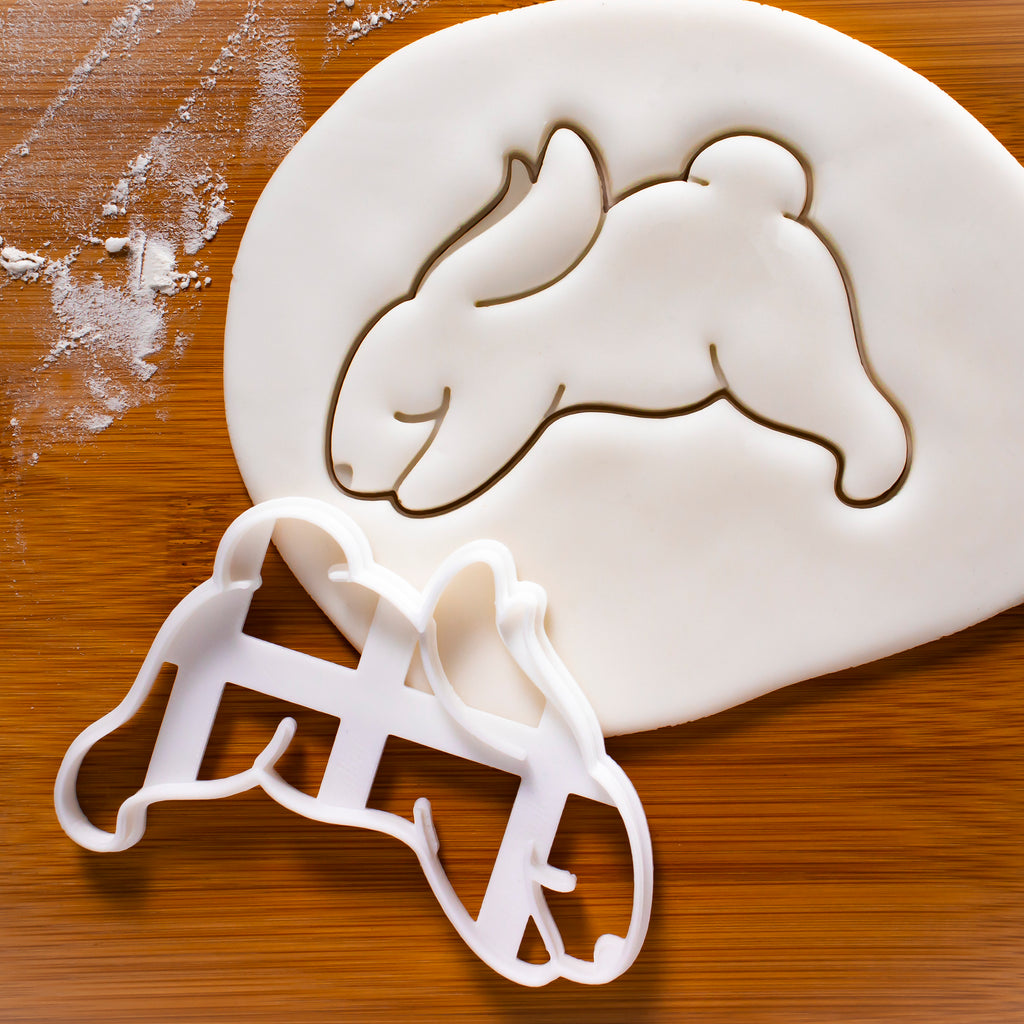 Yoga Bunny Downward Dog Cookie Cutter