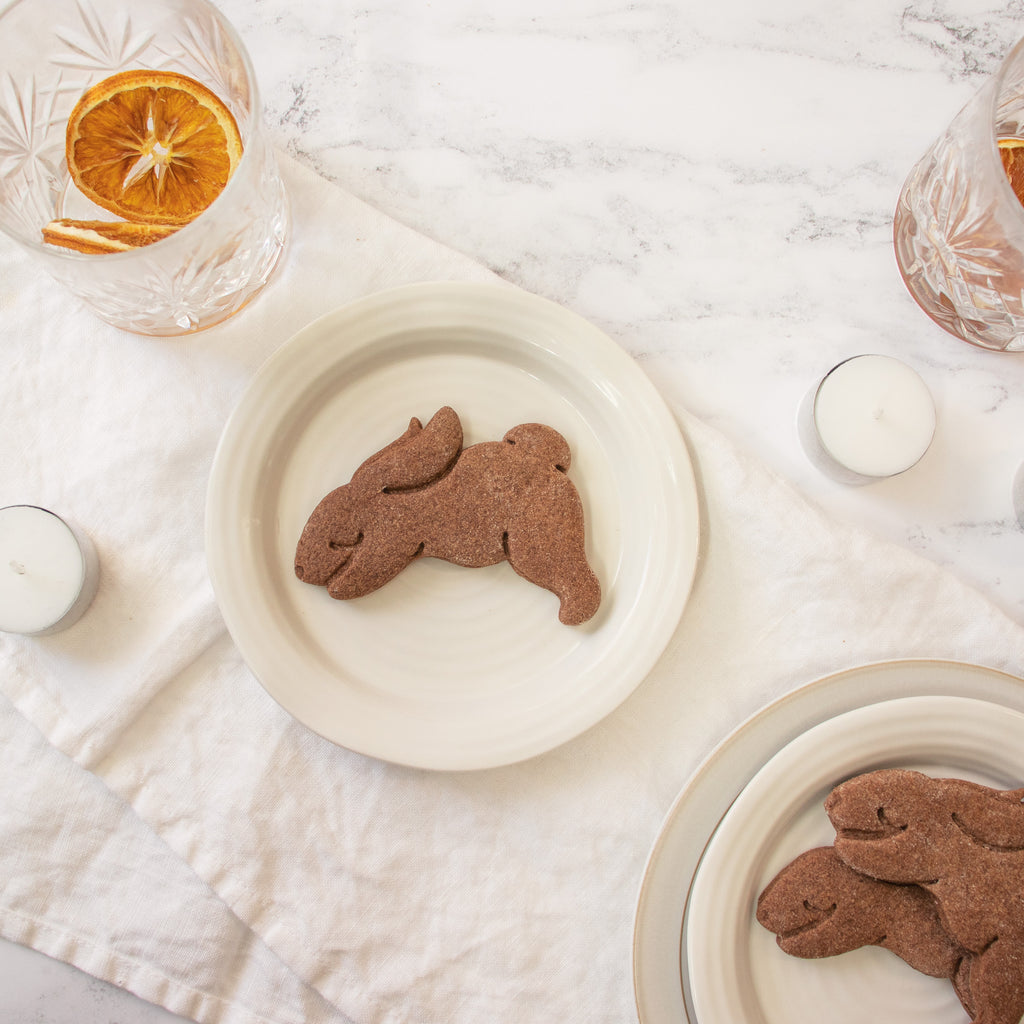 Yoga Bunny Downward Dog Cookie