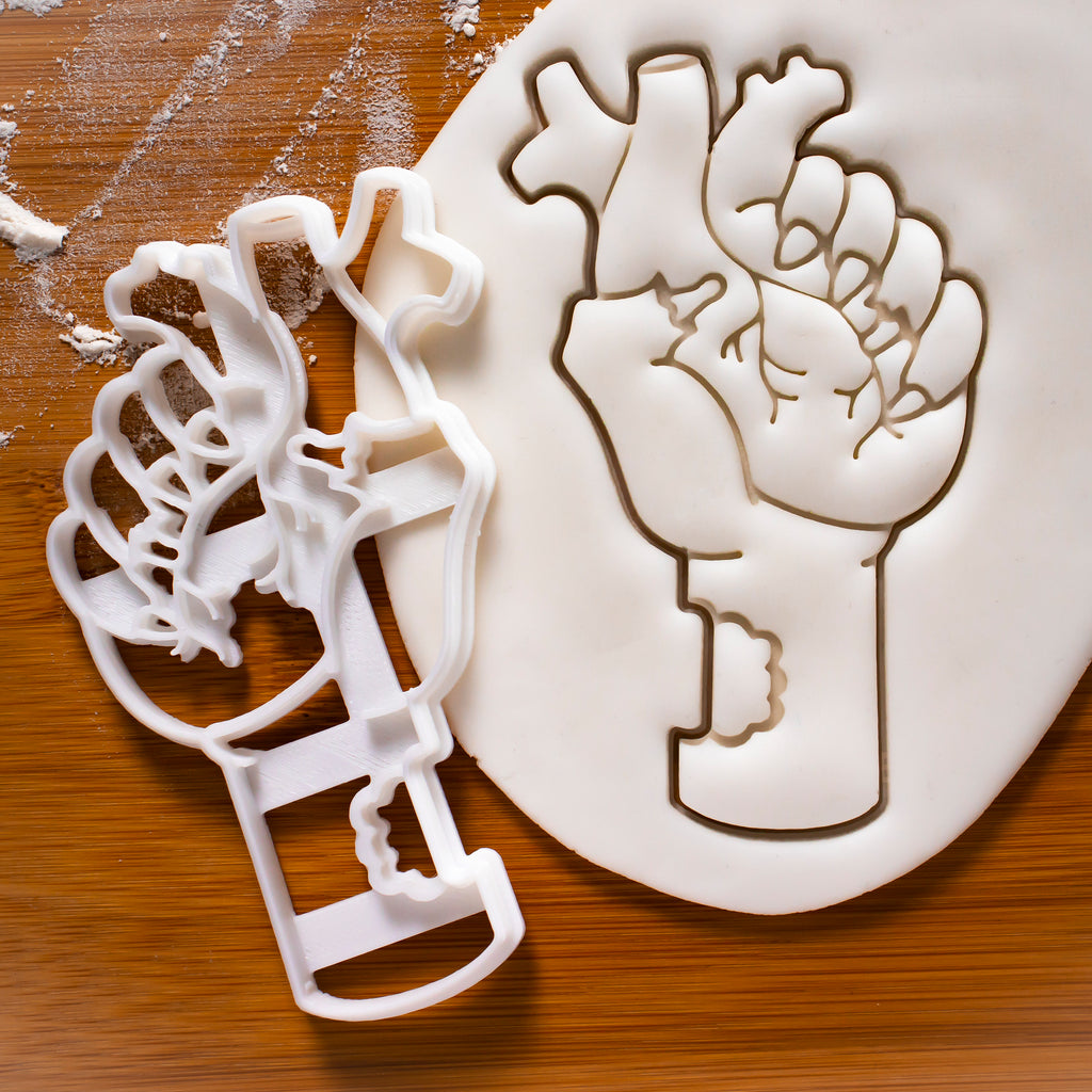 Heart in Zombie Hand Cookie Cutter