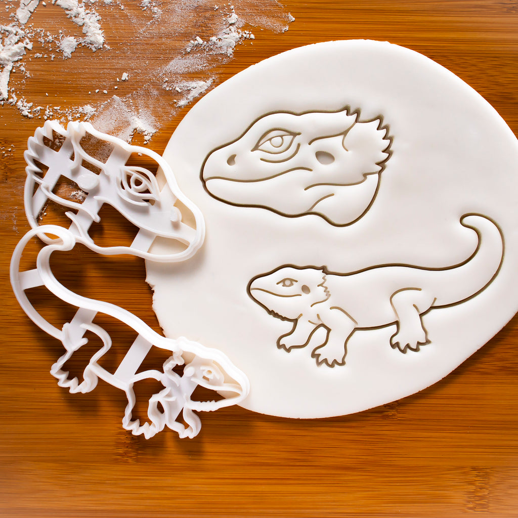 Set of 2 Pogona Bearded Dragon Cookie Cutters