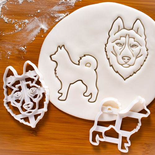 Set of 2 Husky Cookie Cutters